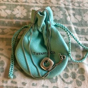 "Tiffany & Co ✨ 18"" Beaded Chain Pendant Necklace"